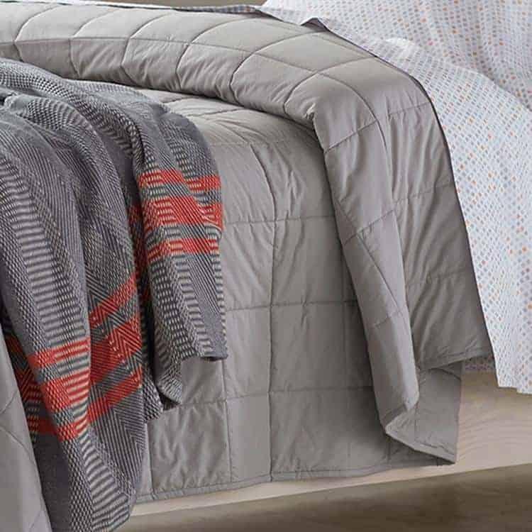 Coyuchi Organic Cotton Comforter - Deep Pewter