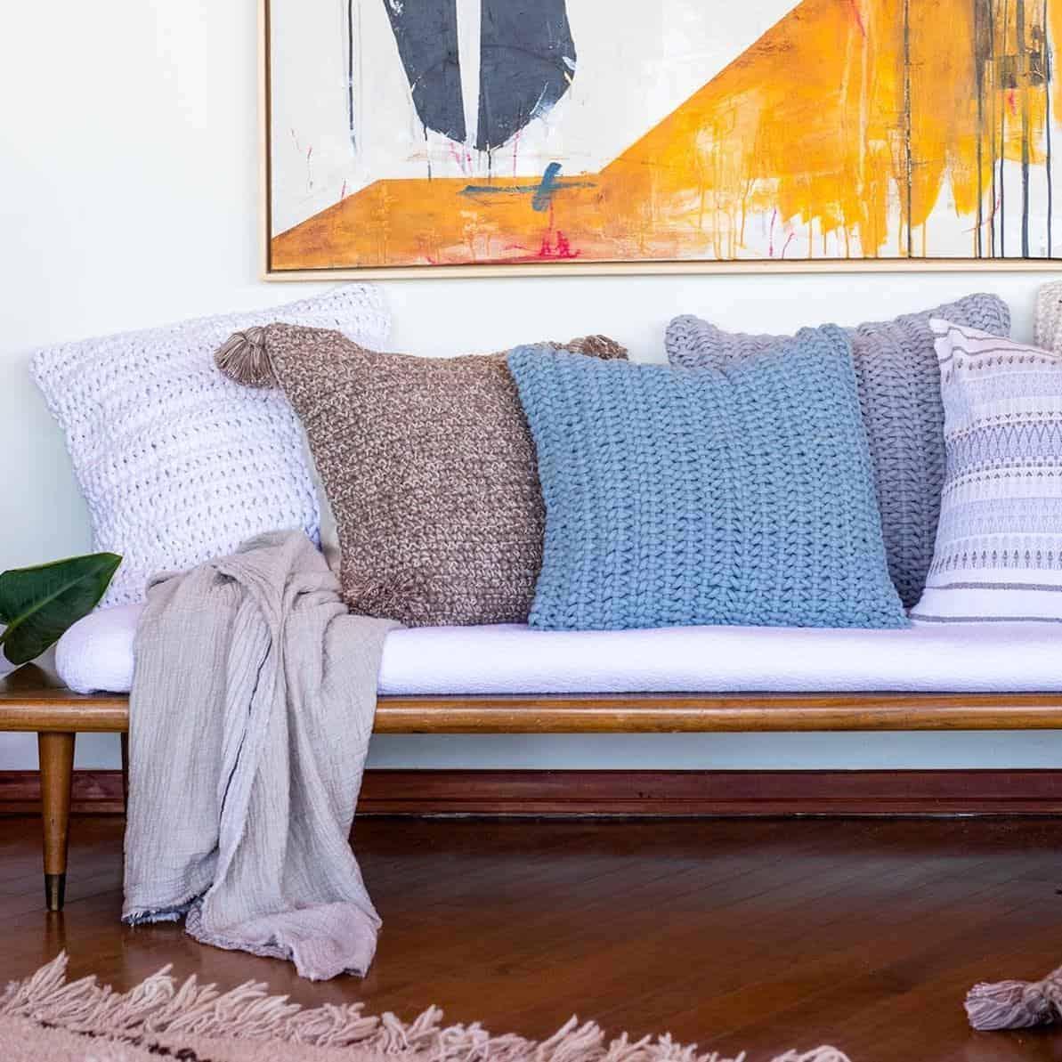 Coyuchi throw pillows