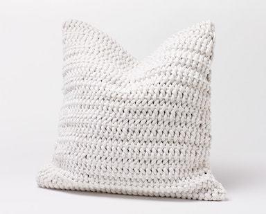 Coyuchi Woven Rope Organic Pillow Cover - Alpine White