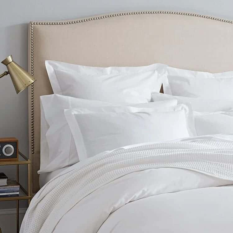 Boll & Branch Waffle Bed Blanket - White