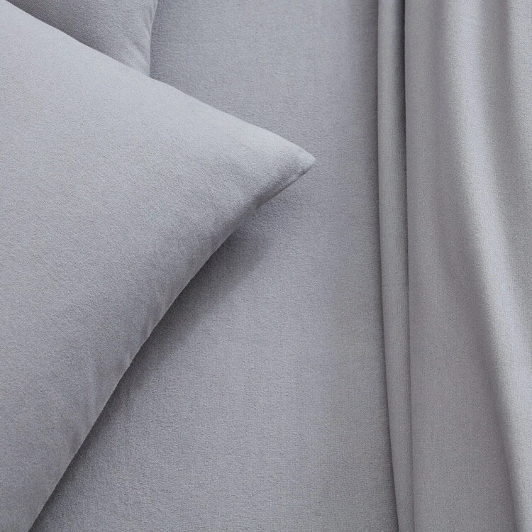 Boll & Branch Flannel Solid Sheet Set - Stone