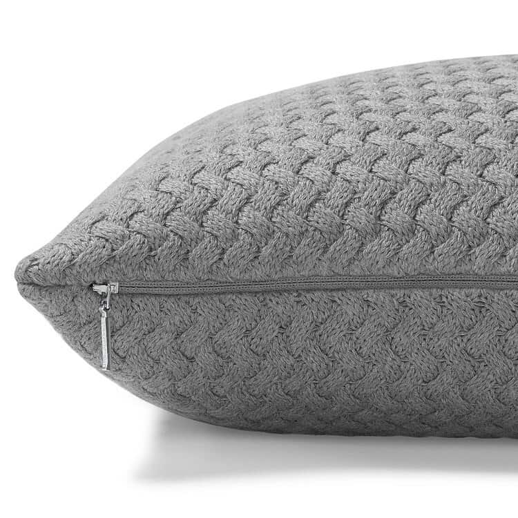 Boll & Branch Chunky Knit Decorative Pillow Cover - Heathered Grey