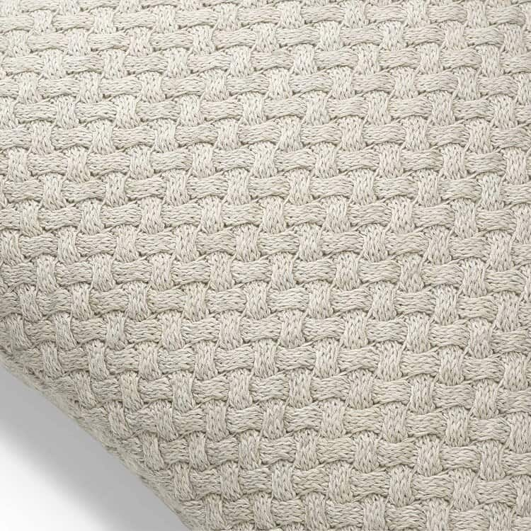 Boll & Branch Chunky Knit Decorative Pillow Cover - Heathered Oatmeal