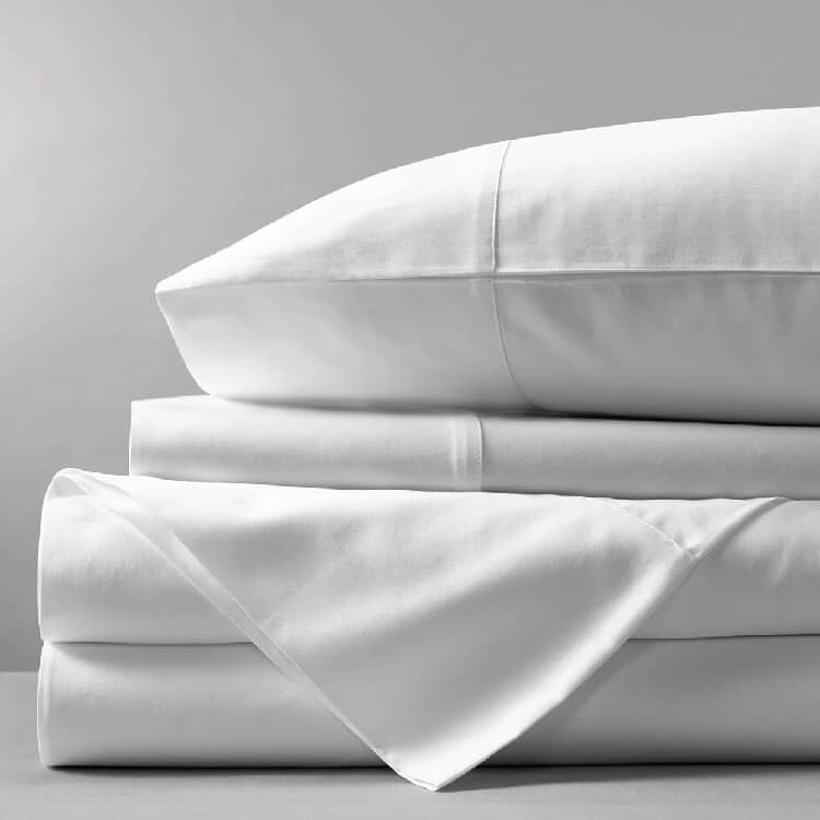 Boll & Branch Percale Solid Sheet Set - White