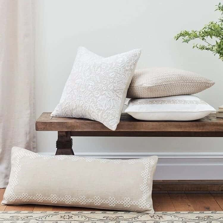Boll & Branch Chunky Knit Decorative Pillow Cover