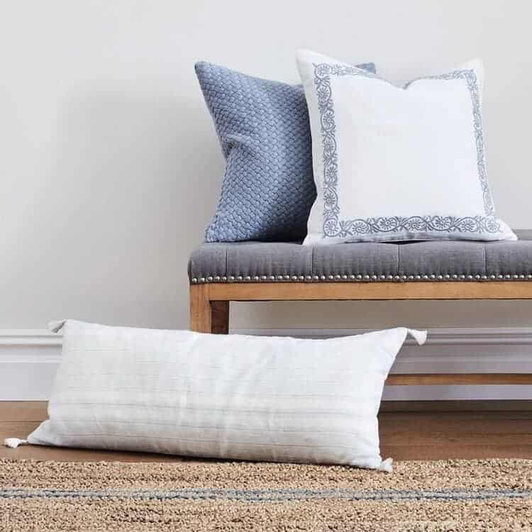 Boll & Branch Linen Stripe Decorative Pillow Cover