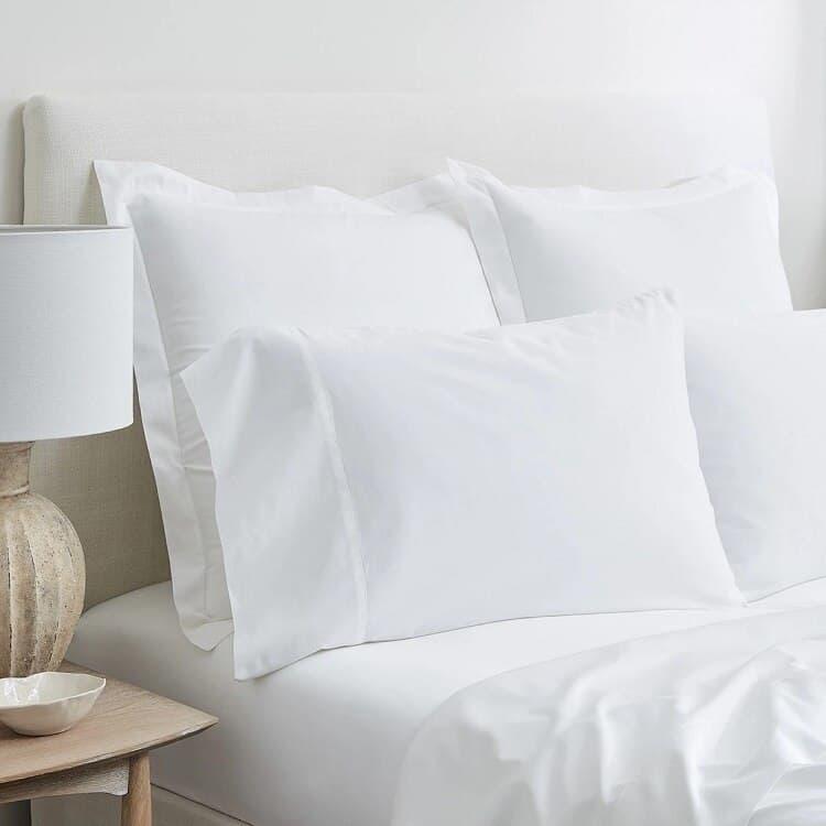 Boll & Branch Solid Hemmed Sheet Set -White